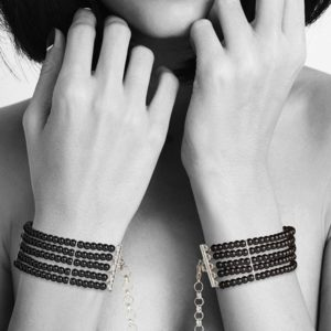 Bijoux Plaisir Nacre Black Handcuffs Preview